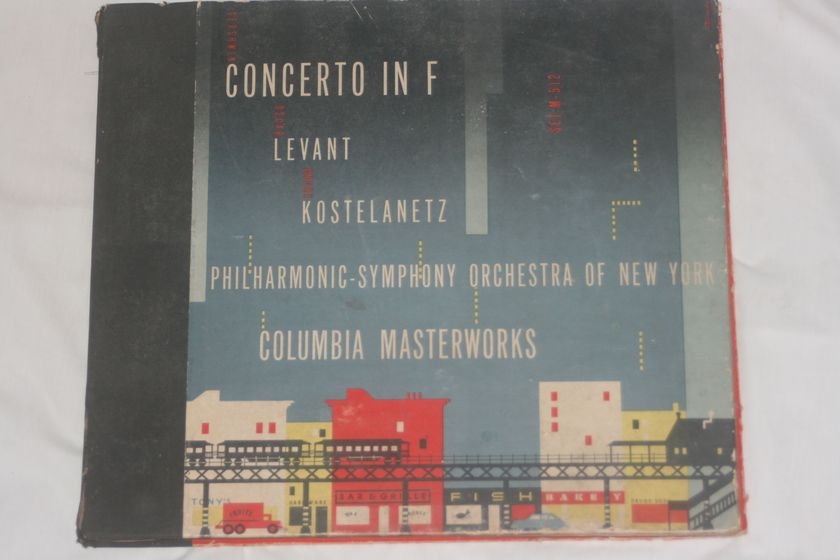 Philharmonic Symphony Orchestra of New York - Concerto in F Levant Kostelanetz Columbia M-MM-512