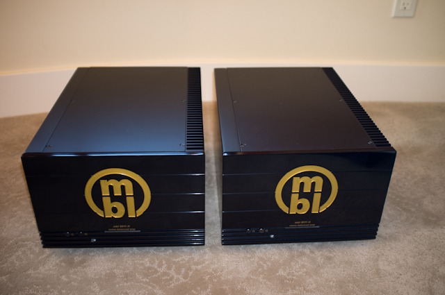 MBL 8011AM mono block pair, black & gold.
