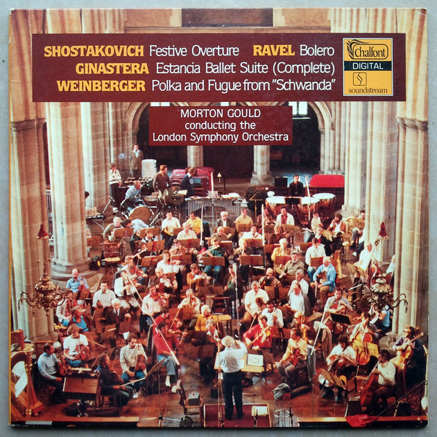 Chalfont/Morton Gould/Shostakovich - Festive Overture, Ginastera Estancia Complete Ballet Suite, Weinberger Polka and Fugue from Schwanda / NM