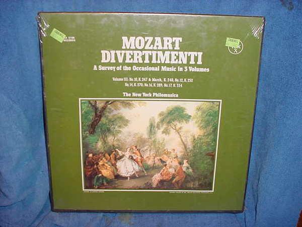 Mozart /Divertimenti - The New York philomusica vox svbx-1506
