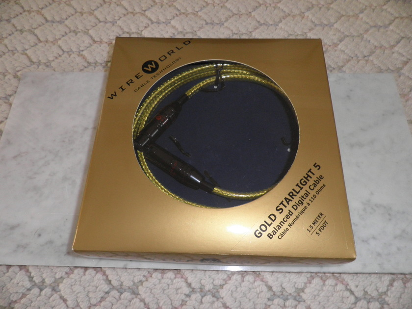 WireWorld Gold Starlight 5 1.5m Balance Digital