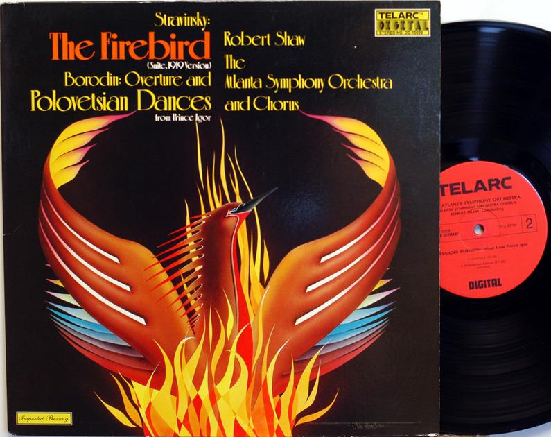 Telarc Stravinsky Firebird - Borodin/Shaw German Audiophile Stereo DG-10039 NM condition