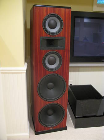 Tyler Acoustics PD80 Speakers bloodwood finish (reduced)