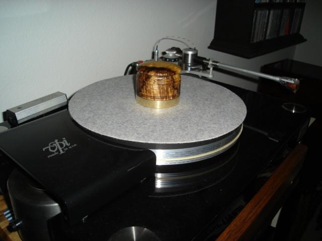 Wai Puna Sound Record weight Myrtle burl series