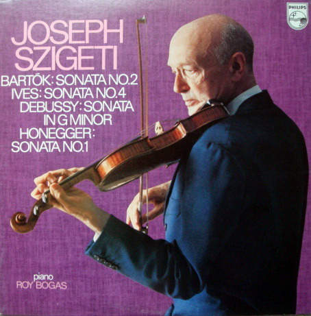 ★Audiophile★ Japan Philips / SZIGETI,  - Bartok-Ives-Debussy-Honegger Violin Sonatas, MINT!