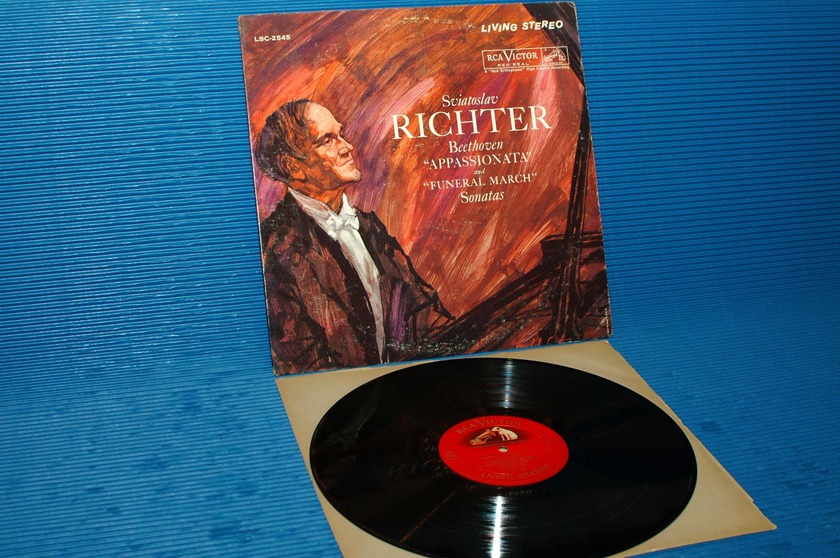 "BEETHOVEN/Richter -  - ""Appassionata & Funeral March Sonatas"" - RCA 'Shaded Dog' 1960 1S/1S"