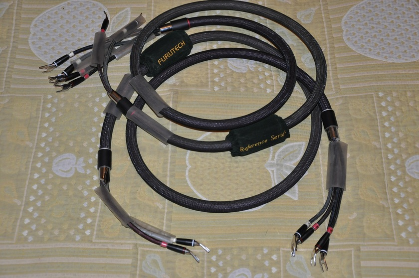 Furutech Reference III Speaker Cables 2 M Pair Bi-Wire In Spades