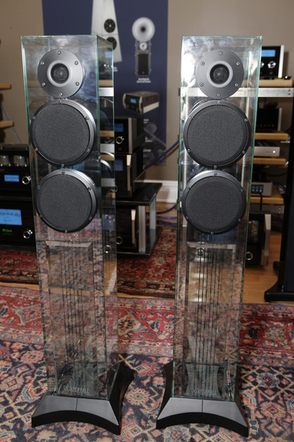 Waterfall Audio Victoria Evo Glass Speakers-Beautiful HUGE Wife Acceptance Factor!!!