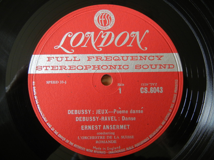 Debussy-Danse - Jeux, Dukas-LaPeri FFSS London CS-6043 Blue-Back