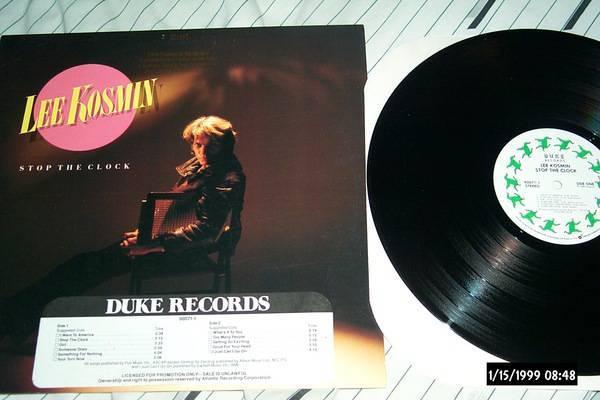 Lee kosmin - Stop The Clock duke records label nm