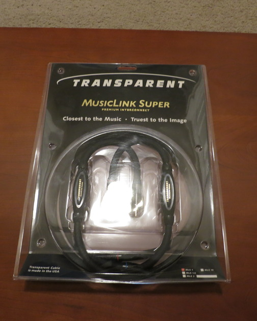 Transparent MusicLink Super 1M RCA Interconnects!