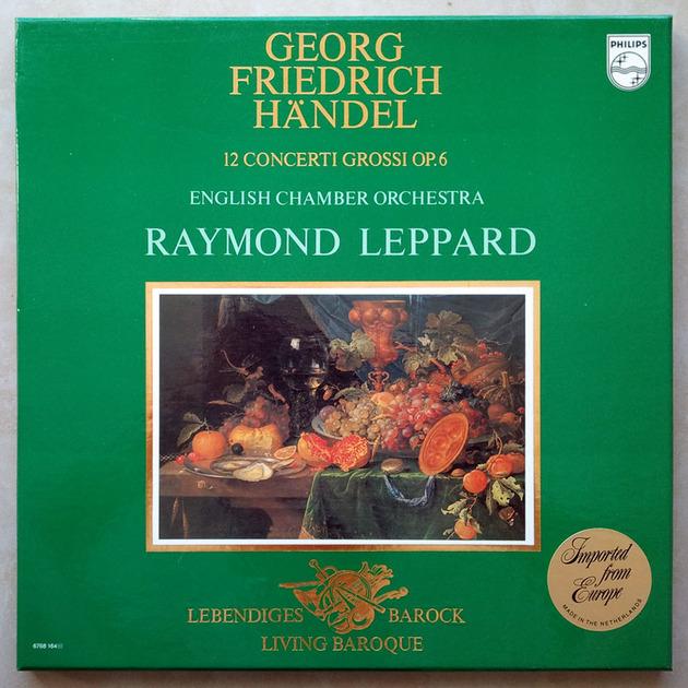 Philips/Leppard/Handel - 12 Concerti Grossi Op.6 / 3-LP box set / NM