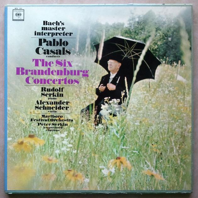 Columbia 2-eye/Pablo Casals/Bach - 6 Brandenburg Concertos with rehearsal disc / 3-LP Box Set / NM