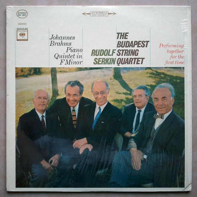 Columbia 2-eye/Serkin & Budapest String Quartet/Brahms - Piano Quintet in F Minor / VG+
