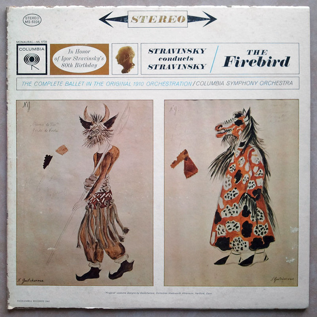 Columbia 2-eye/Stravinsky - conducts his The Firebird / EX