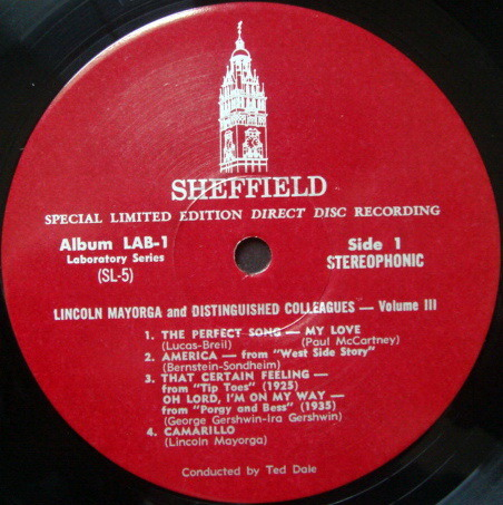 ★Audiophile★ Sheffield Lab / MAYORGA, - Lincoln Mayorga & Colleague Vol III, MINT, Rare Maroon Original, TAS LP!