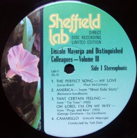 ★Audiophile★ Sheffield Lab / MAYORGA, - Lincoln Mayorga & Colleague Vol III, MINT, TAS LP!