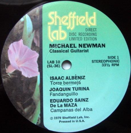 ★Audiophile★ Sheffield Lab / NEWMAN, - Bach Chaconne, MINT!