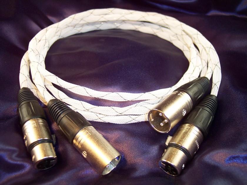 Black Mountain Cable 1M Pinnacle Gold XLR Pair - No Reserve Auction
