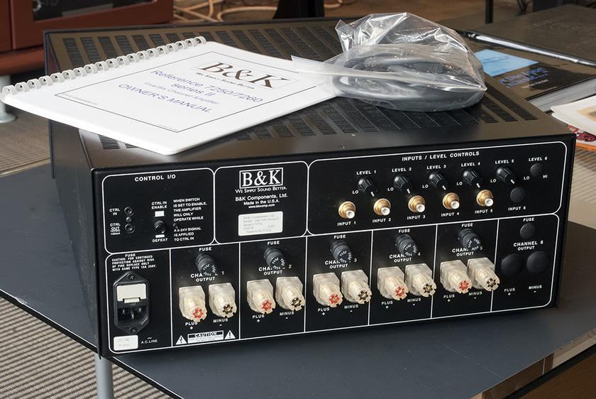B&K Reference 7250 Series II Power Amplifier; 200w x 5