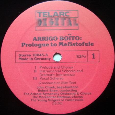 ★Audiophile★ Telarc / SHAW, - Boito Prologue to Mefistofele, MINT!