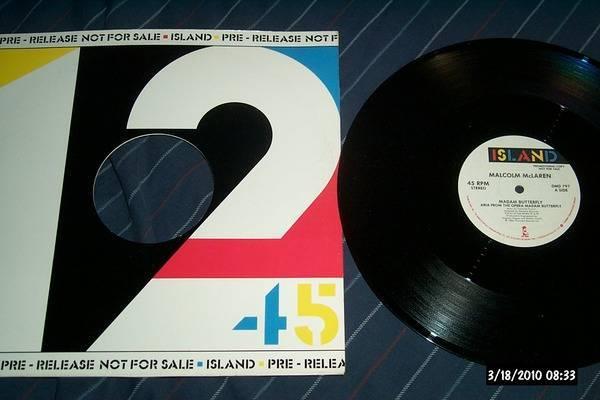 Malcolm Mclaren - Promo 12 Inch madam butterfly 45 rpm