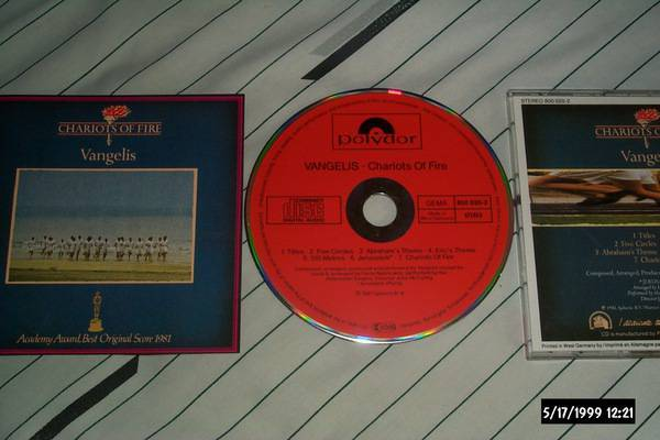 Vangelis - Chariots Of Fire polydor red face cd nm