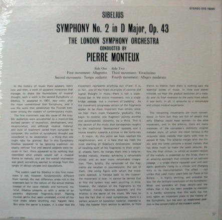 ★Sealed★ London-Decca / - MONTEUX, Sibelius Symphony No.2!