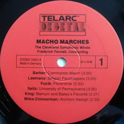 ★Audiophile★ Telarc / FENNELL, - Macho Marches, EX!