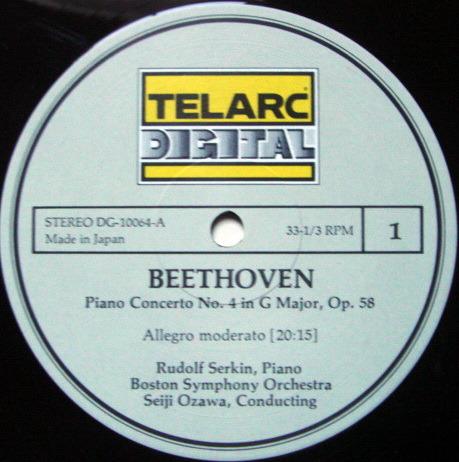 ★Audiophile★ Telarc / SERKIN-OZAWA, - Beethoven Piano concerto No.4, MINT!