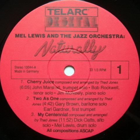 ★Audiophile★ Telarc / MEL LEWIS, - Naturally,  MINT!