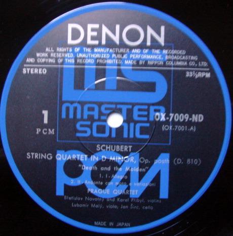 ★Audiophile★ Denon PCM / PRAGUE QT, - Schubert string quartets No.14 Death & The Maiden, MINT!