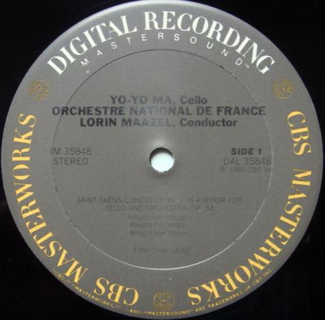 CBS Digital / YO-YO MA, - Lalo-Saint-Saens Cello Concertos, MINT!