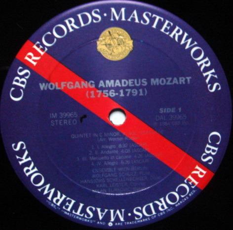CBS Digital / ENSEMBLE WIEN-BERLIN, - Mozart Quintet Serenade, MINT!