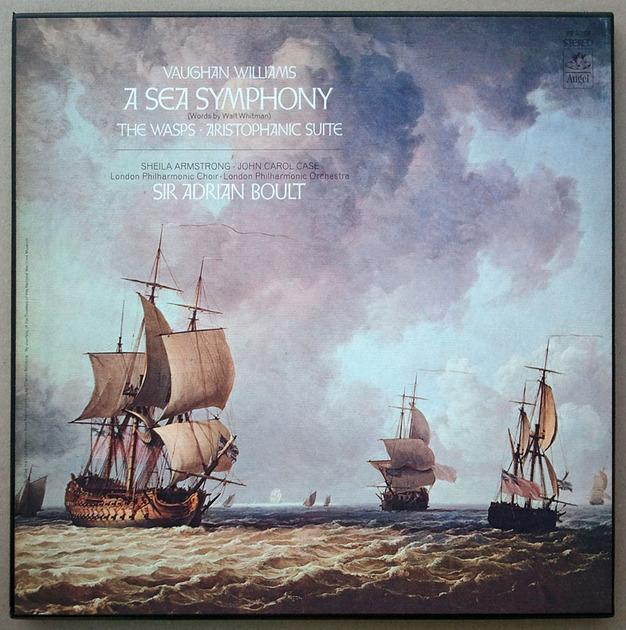 Angel (blue label)/Adrian Boult/Vaughan Williams - A Sea Symphony / 2-LP Box Set / EX