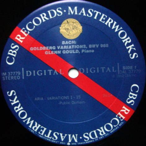 CBS Digital / GLENN GOULD, - Bach Goldberg Variations, Special Gate-folder Version, MINT!