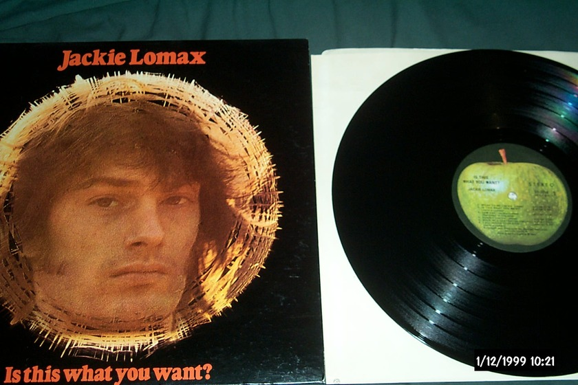 Jackie Lowmax - Is This What You Want? Apple records LP NM