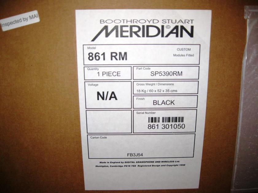 Meridian 861 RM NEW IN THE BOX!!