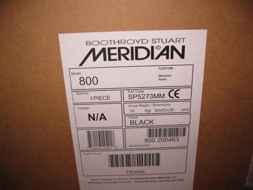 Meridian 800 NEW IN THE BOX!!