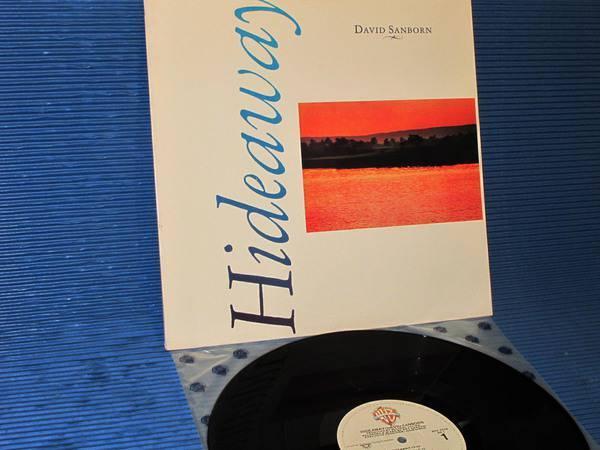 "DAVID SANBORN -  - ""Hideaway"" -  Warner Bros. 1980 1st pressing Sterling"