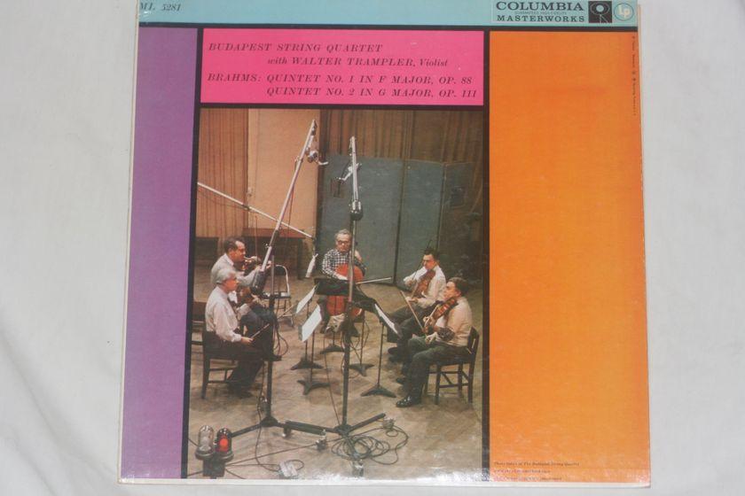 Budapest String Quartet - Brahms: Quartet No. 1 & No. 2 Columbia ML 5281