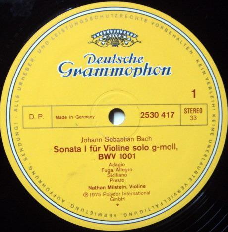 DG / Bach 6 Sonatas & Partitas - for Solo Violin, MILSTEIN, NM!
