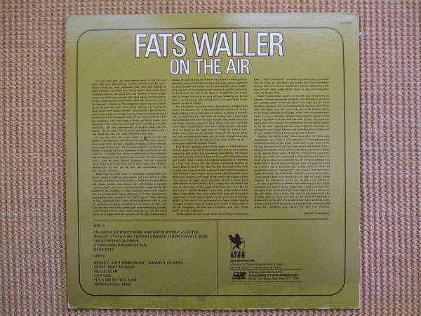 Fats Waller - Jazz Bird Records On The Air