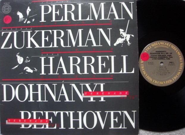 CBS / PERLMAN-ZUKERMAN-HARRELL, - Beethoven-Dohnanyi Serenades, NM!