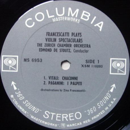 Columbia 2-EYE / FRANCESCATTI , - Violin Spectaculars, MINT, Rare 1st Press Promo Copy!