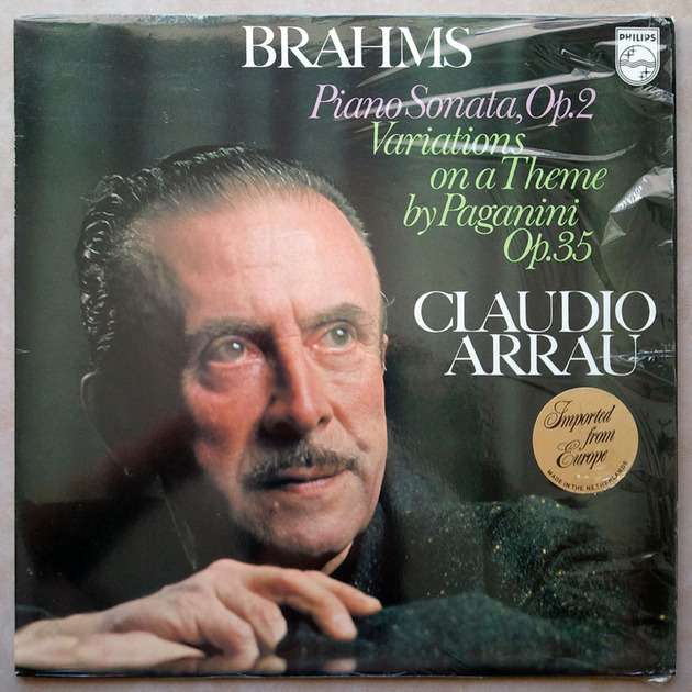 Philips/Arrau/Brahms - Piano Sonata Op.2, Variations on a theme by Paganini Op.35 / NM