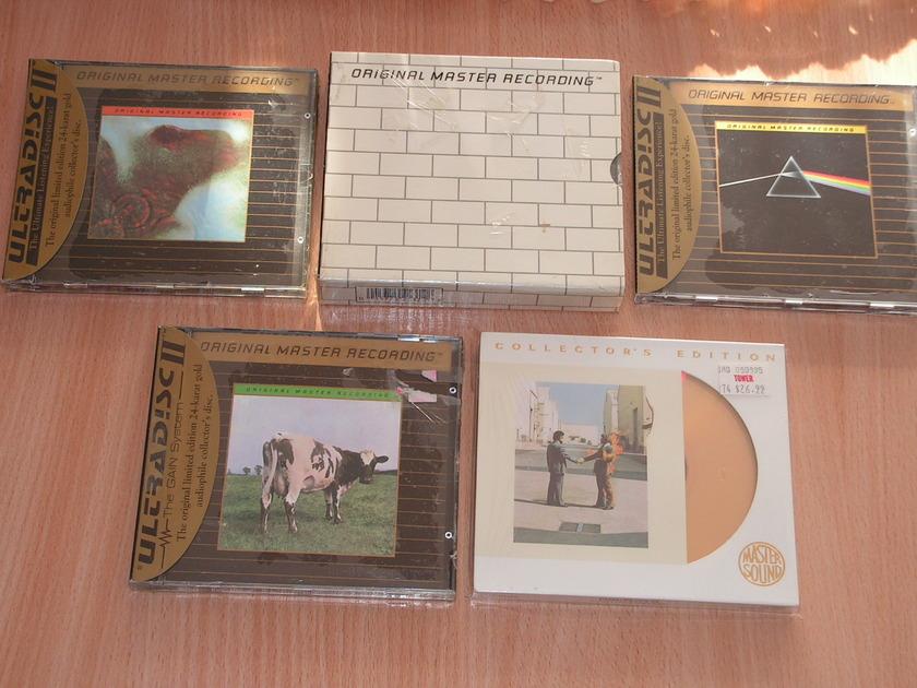 Pink Floyd - 5 titles - 24 karat gold discs MFSL, Mastersound 24 kt gold