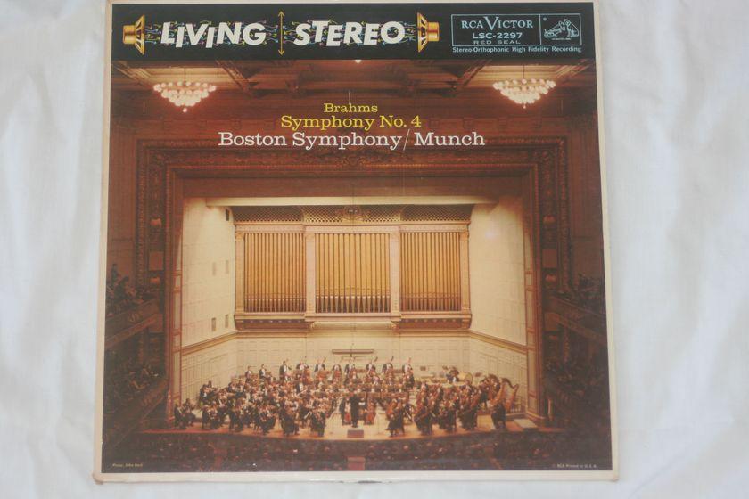 Boston Symphony/Munch - Brahms Symphony No. 4 RCA Victor LSC-2297