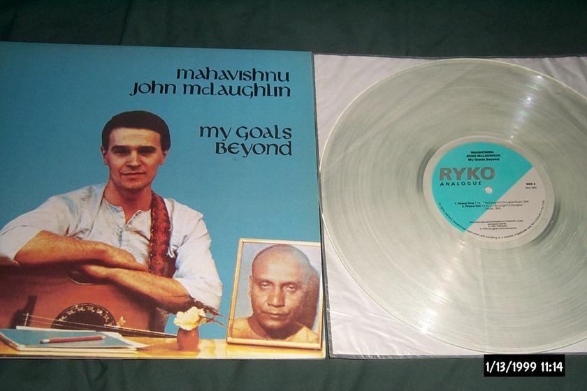 John McLaughlin - My Goal's Beyond Ryko Clear Vinyl LP NM