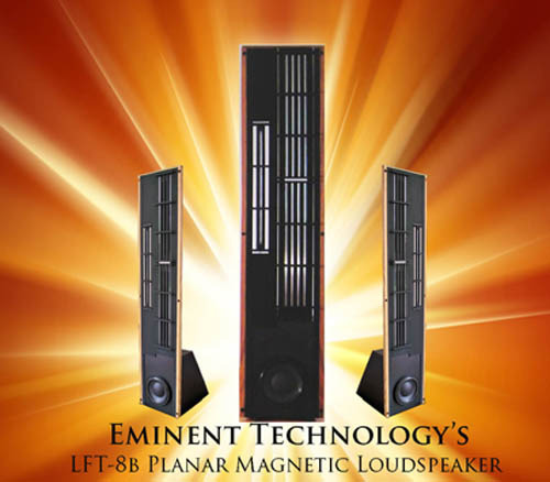 Eminent Technology LFT 8B's hybrid planar loudspeakers